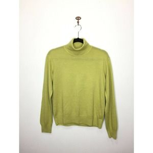 Yera Chartreuse Green Turtleneck Sweater 40 8